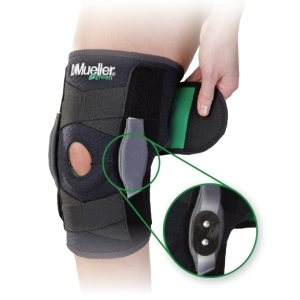 Бандаж на колено MUELLER 86455ML SELF ADJ HINGED KNEE BRACE GREEN