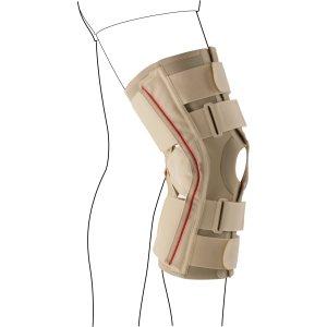Коленный ортез с 2-мя дополнительными ремнями для предотвращения переразгибания