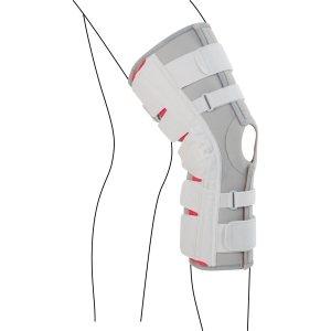 Удлинённый коленный ортез с регулируемыми шарнирами