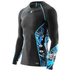 Компрессионная футболка мужская с длинным рукавом Skins Bio A200