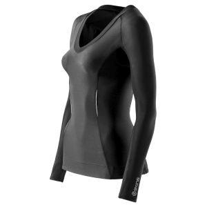 Компрессионная женская футболка с длинным рукавом Skins A200