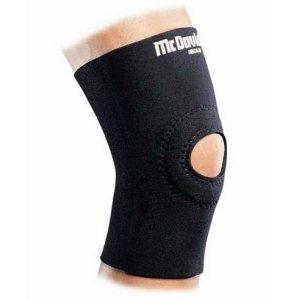 Прорезиненный суппорт колена с открытой коленной чашечкой