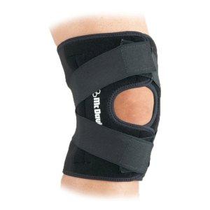 Бандаж колена с дополнительными ремнями на липучках