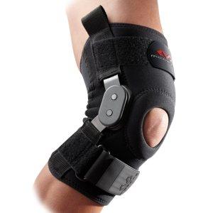 Фиксатор колена с жёсткими вставками и двухосевыми шарнирами