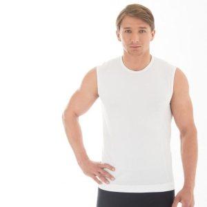 Мужская двухслойная сорочка без рукавов Tank Classic Comfort Cotton