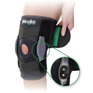 Универсальный авторегулирующийся шарнирный бандаж колена