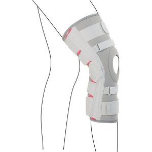 Удлинённый коленный ортез с 8-ю фиксирующими ремнями