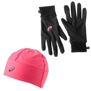 Комплект шапка+перчатки ASICS